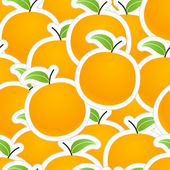 Group of oranges seamless background — Stock Vector