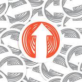 Arrows seamles background — Stock Vector