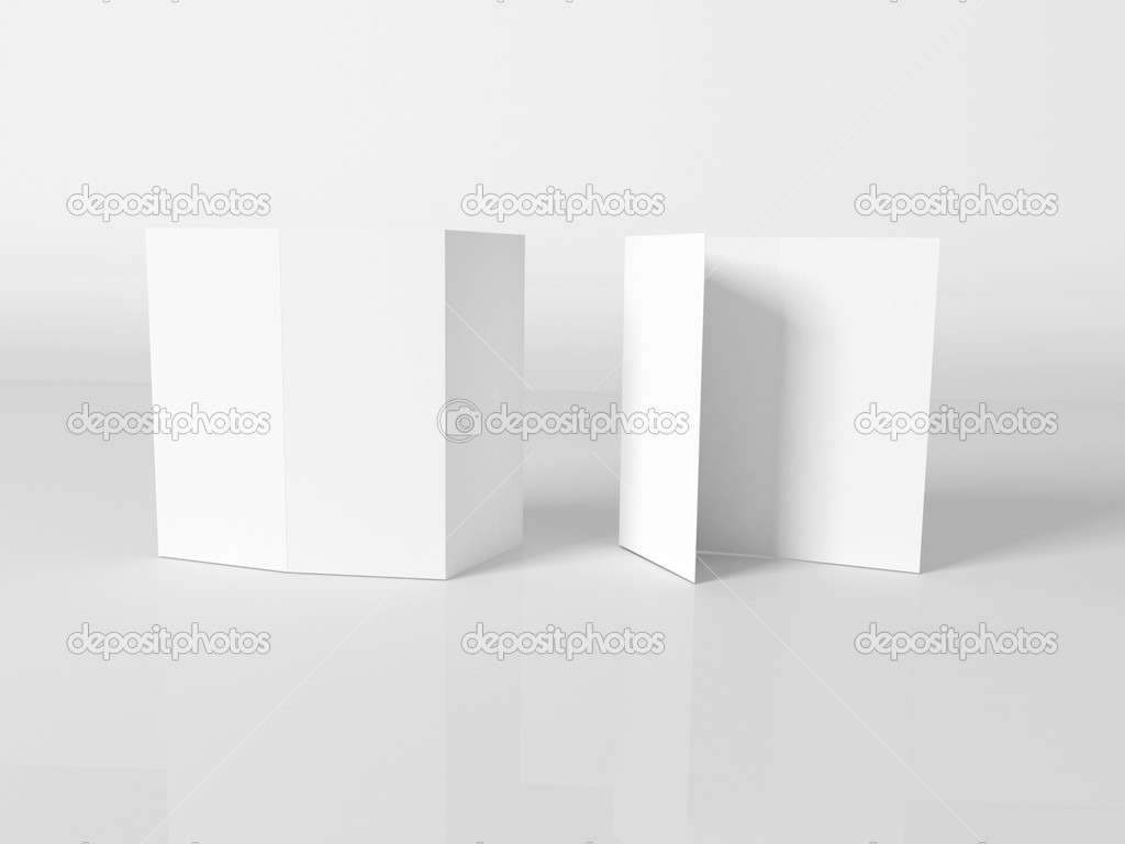 Blank white booklet template Photo tovovan 8747724 – Booklet Template