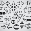 Hand-drawn arrows collection — Stock Vector