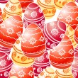 Ornamental Easter eggs seamless texture — Stock Vector