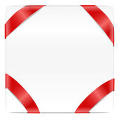Blank page with red ribbon — Stock Vector