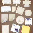 Collectionn Vintage Papier Blatt — Stockvektor
