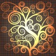 Abstract golden tree - Imagen vectorial