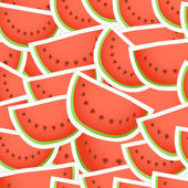Red wate melon seamless background — Stock Vector