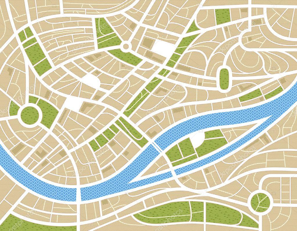 抽象城市地图图 — 图库矢量图像08