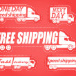 Fast delivery vector stickers collection — Stock Vector #8887784