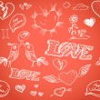 Royalty-Free Stock Vector Image: Happy Valentine`s Day elements seamless background