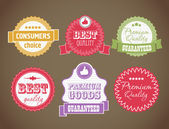 Vector vintage discount labels set — Stock Vector