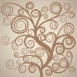 Vector de stock : Abstract curly tree
