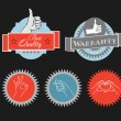Vintage shopping labels and logo clip-art - Imagen vectorial