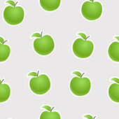 Green apples seamless background — Stock Vector