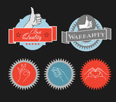 Vintage shopping labels and logo clip-art — Stock Vector
