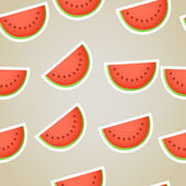 Red water melon slices seamless background — Stock Vector