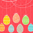 happy easter-card — Stockvektor #9205451