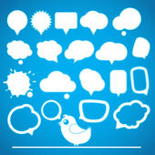 Speech bubbles collection — Stock Vector