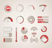 Coleção de indicadores diferentes — Vetorial Stock