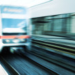 Fast motion of the train — Stock Photo