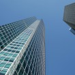 Angle view of glass buildings — Stock Photo