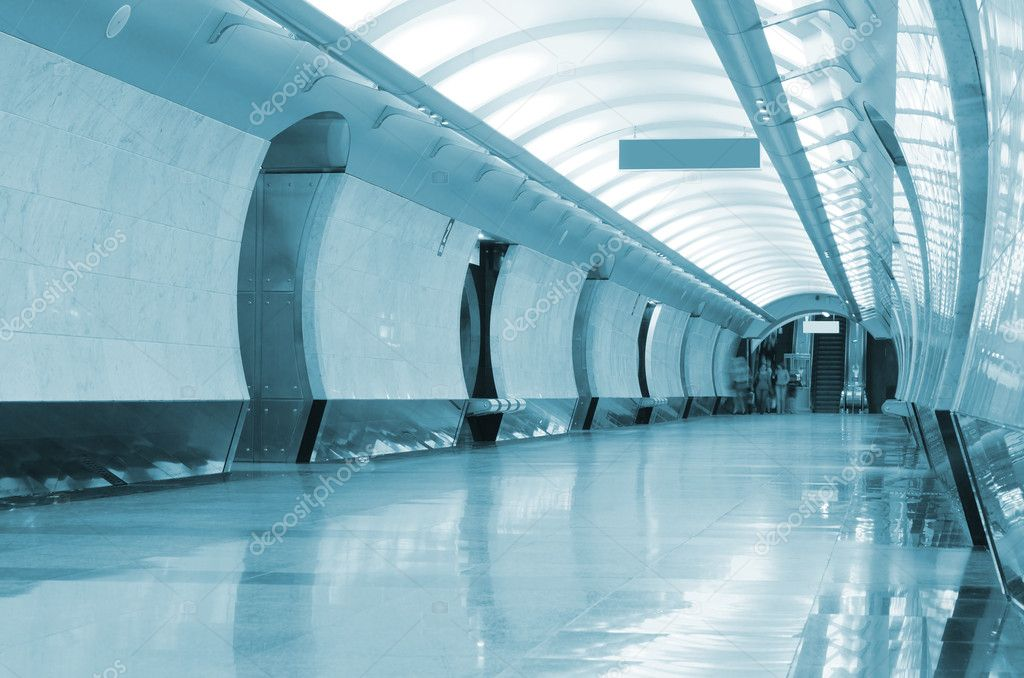 Long corridor in metro station — Stock Photo #9279794