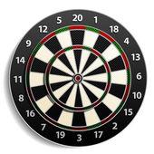 Dart Target isolated on white — Stock Vector