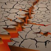 Trockenen heißen boden mit dem magma — Stockvektor