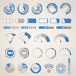 Different indicators collection — Stock Vector