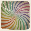 Vintage color spiral background with blots and scratches — Stock Vector