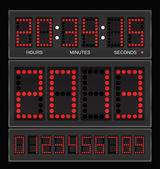 Digital clock — Vector de stock