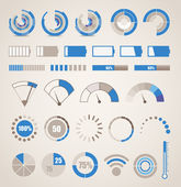 коллекция различных индикаторов — Cтоковый вектор
