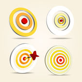 Darts targets set — Stock Vector