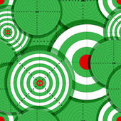 Seamless background of green targets — Stock Vector