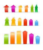 Cintas y marcadores de color diferente — Vector de stock