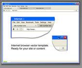 šablona okna otevřený prohlížeč. za svůj obsah do ní — Stock vektor