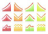 Business revenue statistics — Stock Vector