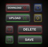 Set of navigation modern style buttons — Stock Vector