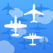 Airplanes background — Stock Vector