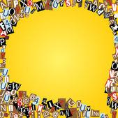 ベクトル黄色の新聞や雑誌からの手紙のバブルを話します。 — ストックベクタ
