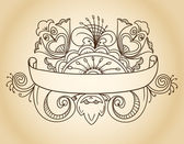 Fantastic style ornamented banner — Stock Vector