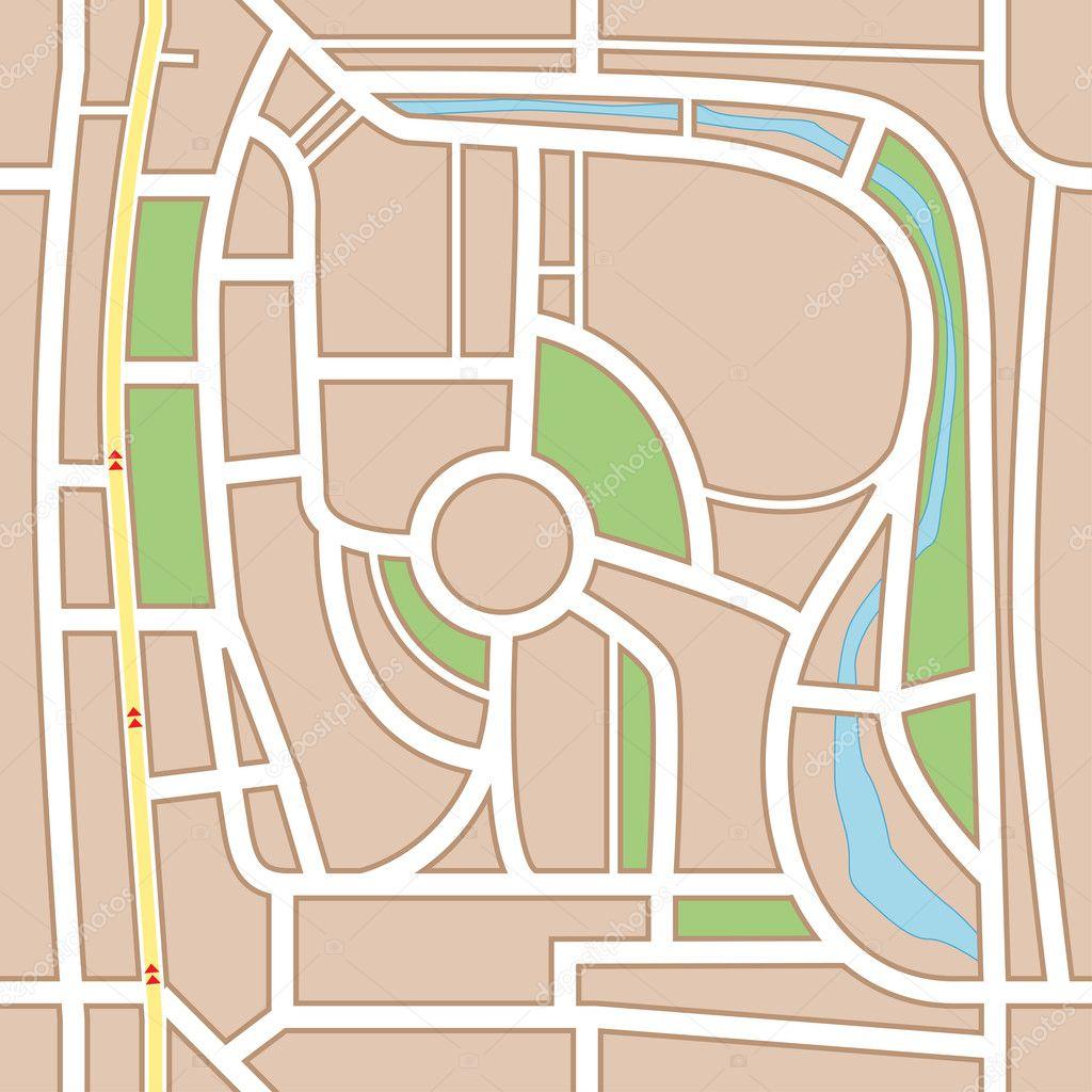 城市地图抽象无缝背景