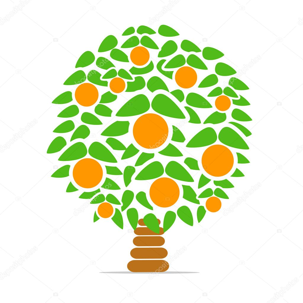 Orange-tree — Stock Vector © tovovan_ #9519393