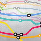 Abstract color metro scheme background — Stock Vector