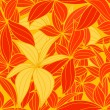 Yellow and red leaves seamless background - Stock vektor