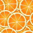 Stock Vector: Citrus segments seamless background