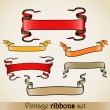 Vintage vector ribbons set — Stock Vector #9732439