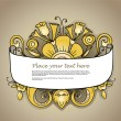 Fantastic style gold flowers ornamented banner — Stock Vector #9732488