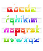 Colorful cubic style font — Stock Vector
