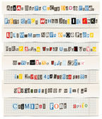 Different colors vector letters from newspaper and magazines collection — Stok Vektör