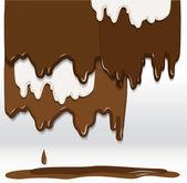 Fondo de chocolate — Vector de stock