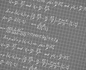 Kvadrerade papper med matematiska formler — Stockvektor